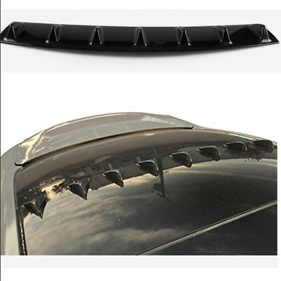 "33x 5"" Matte Black ABS Car Rear Bumper Lip Diffuser Shark Fin Style Curved Addon"