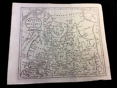 ANTIQUE MAP OF RUSSIA or MUSCOVY IN EUROPE 1770
