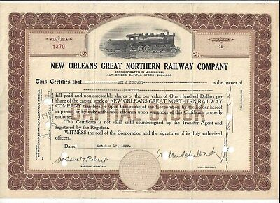 Stk-New Orleans Great Northern RY Co. 1933 Brown Vig: Photo like of engine