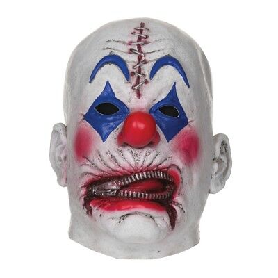 Reißverschluss Clown Overhead Halloween Maske - Mask Zipper Fancy Dress Rubber