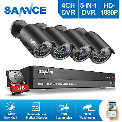 SANNCE 1pcs In/Outdoor 900TVL Dome IR Night Vision CCTV Home Security Camera