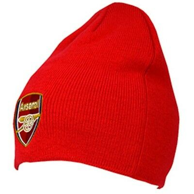 Arsenal Fc Knitted Beanie Hat - Official Football Red Club Licensed Product One