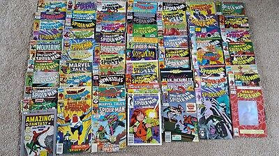 Big Lot Of 65 Spiderman Marvel Comics 1990'S