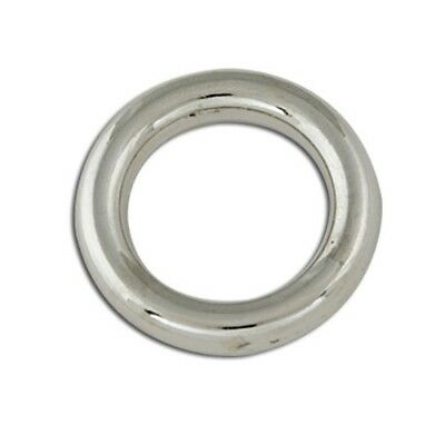 """Decorative Solid Ring Npnf 4pk - Rings 5 8"""" Nickel Plated 4 Pk Tandy Leather"""