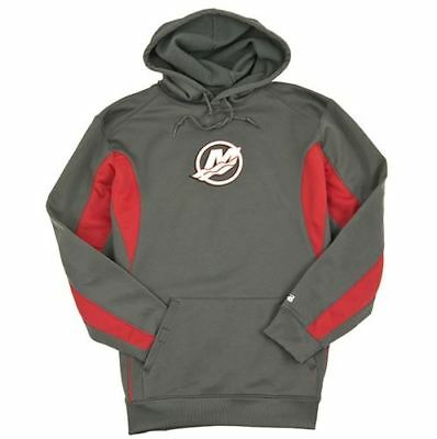 Mercury Marine Strike Hoodie Hooded Graphite/Red Sweatshirt