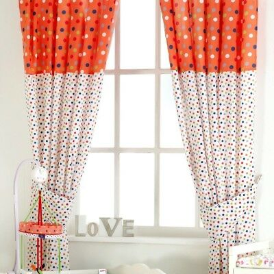 Red Kite Cotton Tail Nursery Curtains - Tab Top Tie Backs Tails Friends