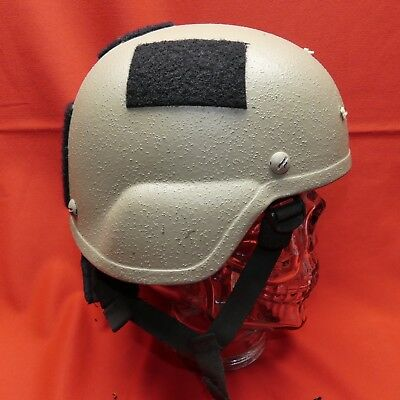 ACH MICH USED Helmet ACH  size  SMALL PADS  Chinstrap TAN # 311