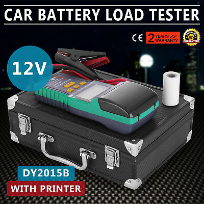 12V Heavy Duty Truck Car Battery Tester Diagnostic Test Tool With Printer