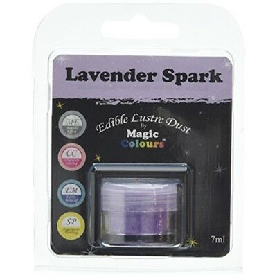 Magic Colours Edible Lustre Dust Lavender Spark - 7ml