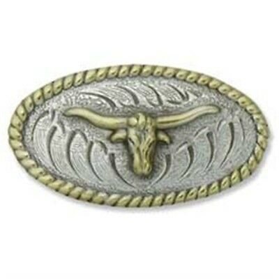Oval Longhorn Leathercraft Concho - Belt Making Customise Design Parts Tandy