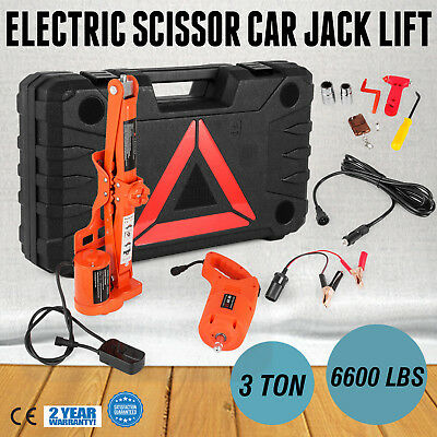 3 Ton Automotive Electric Scissor Car Jack Lift Power Tire Change Van
