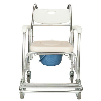 Heavy Duty Commode Wheelchair Bedside Commode Shower Toilet with Seat Patch