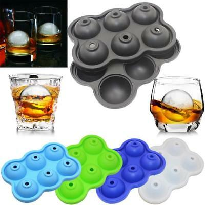 6Holes Silicone  Round Ball Whiskey Ice Hockey Mold Ice Cube Tray With Lid 2018