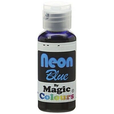 Magic Colours Neon Effect Sugarcraft Paste Blue 32 G - Cake Decoratin Food Dyes