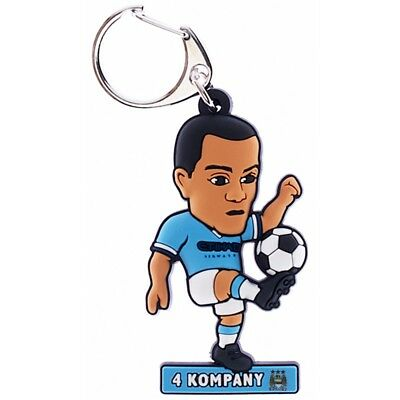 Manchester City F.c. Pvc Keyring Kompany - Fc Football Official Club Vincent