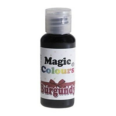 Magic Colours Burgundy Pro - Cake Edible Colour 32g Mc012414 Suitable Icing