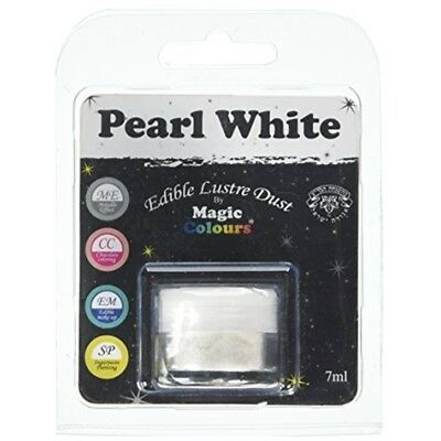 Magic Colours Edible Lustre Dust Pearl White - 7ml