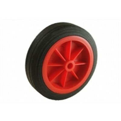 150mm Red Solid Plastic Wheel - Maypole Jockey Spare Mp431 Mp432 430 Trailer