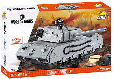 COBI 3032 - WORLD OF TANKS - WWII Dt. PANZER MAUERBRECHER - NEU