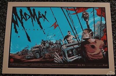 Mad Max Fury Road Mondo Ken Taylor Movie Poster Screen Print mit passepartout