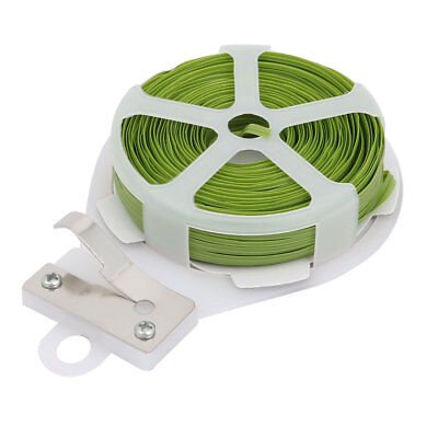 Twist Tie Roll Strapping Wire Tape Cutter for Gardening Packing Crafts 30 Meters