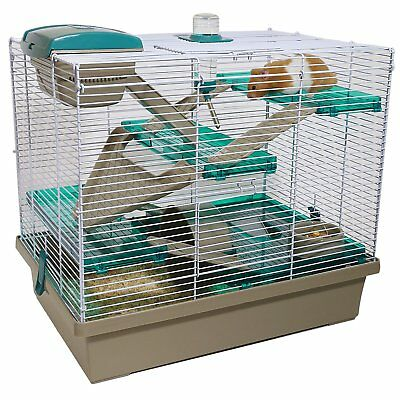 Rosewood Pico Xl Hamster Gerbil Cage 8.5Mm Bars Reduced Silver/ Translucent Teal
