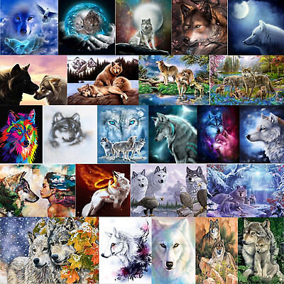 Wolf DIY 5D Diamond Painting Diamant Stickerei Malerei Bilder Stickpackung