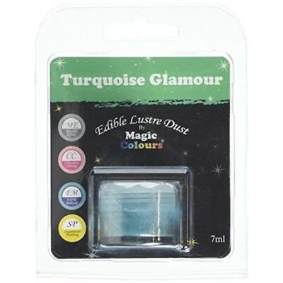 Magic Colours Edible Lustre Dust Turquoise Glamour - 7ml