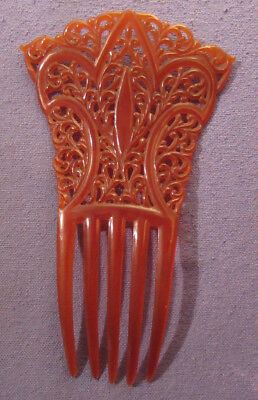 Nice Antique Victorian Ladies Celluloid Hair Comb