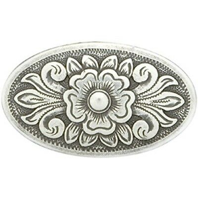 Tandy Leather Factory Concho Antique Silver Screwback 1.5-inchdiablo Oval, -