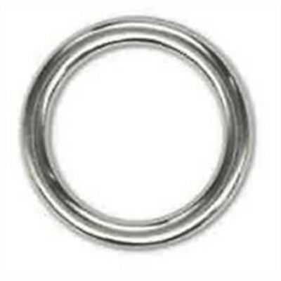 "Tandy Leather Solid Ring 1-1/4"" (32 Mm) Nickel Plated 10/pk 1182-10"