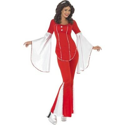 Super Trooper Costume - Fancy Dress 70s Womens Disco Ladies Red 1970s Outfit