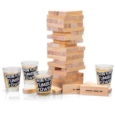 Drinking Tumble Tower - Game Jenga Adult Party Hen Do Stag Shot Stack Gift