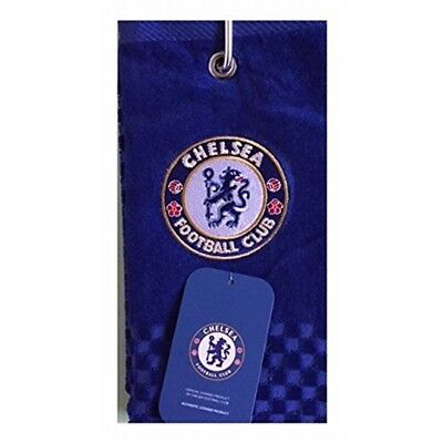 New 2018 Chelsea Fc Cross Tri Fold Golf Towel By Premier Licensing. - Licensing