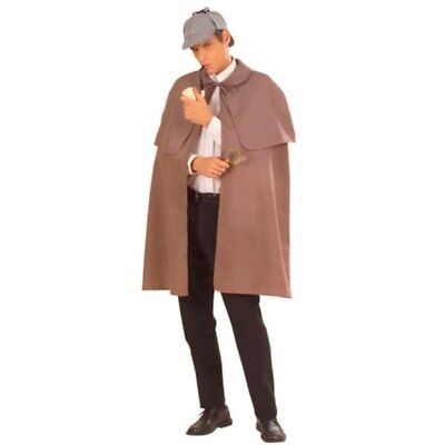Detective Cape Grey Heavy Fabric With Tippet Fancy Dress - Fancy Dress