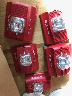 Honeywell Fire Alarm Multitone Signal Strobe Light Lot of 5