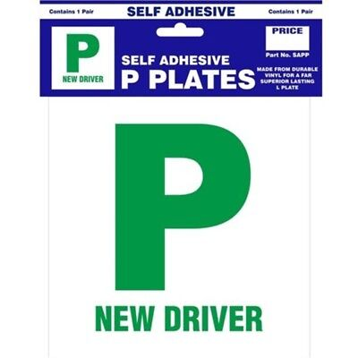 Self Adhesive P Plate - Pair New Plates Castle Sap Driver Promotions
