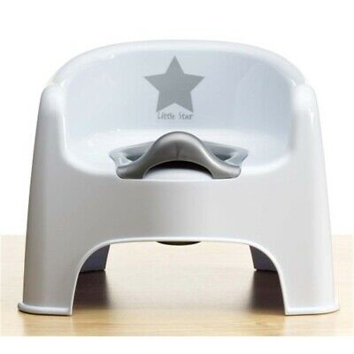 Kiddywinks Premium Potty Chair - Silver Strata Deluxe Lining Training Stool