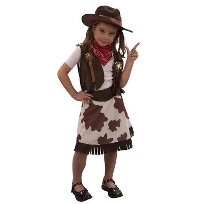 3 Years Toddleru0027s Cowgirl Costume - Fancy Dress Toddler Age Girls Cowboy Outfit  sc 1 st  PicClick & GIRLS FANCY WILD West Dress Up Costume Cowgirl or Indian Girl 4-6 or ...