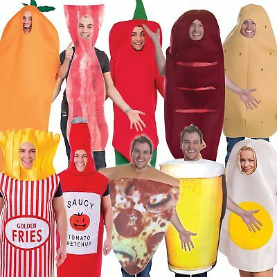 Adult Food & Drink Costumes Mens Ladies Unisex Hen Stag Night Fancy Dress Outfit