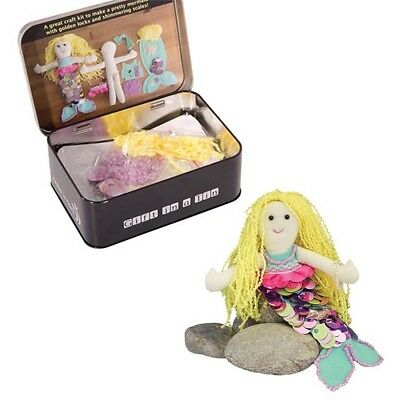 Make Your Own Mermaid - Gift Tin Craft Kids Work Play Set New Free Delivery