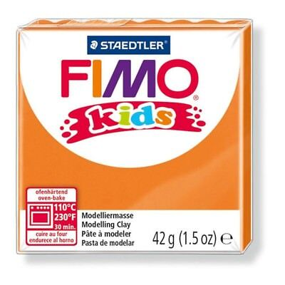 42g Orange Fimo Modelling Clay - Kids Oven Form Play Polymer Bake 24 Colours