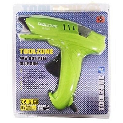 Toolzone 40 Watt Large Hot Melt Glue Gun - 40w Hobby Craft Tz Gg009