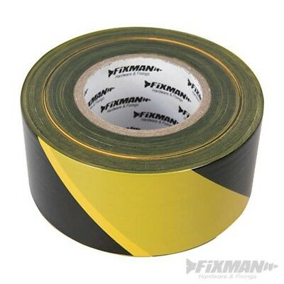 Fixman 535350 Barrier Tape, Red - Tape 70mm 500m Yellowblack