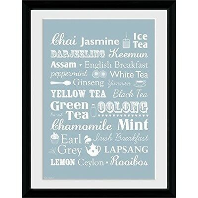"""Gb Eye """"tea, Types"""" Framed Photograph, Multi-colour, 16 x 12-inch, Pack Of 17 -"""