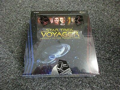 Star Trek Voyager Heroes & Villains Factory Sealed Box w/ 3 Autographs - Sketch?