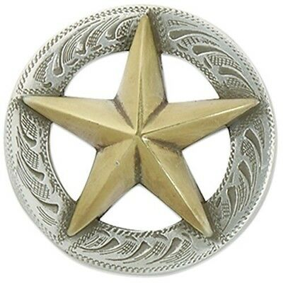 Texas Star 3d Concho Gold/srtp - Silver Gold Screwback 1