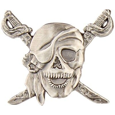 Pirate Concho Screw Back - Antique Silver Screw