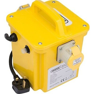Draper 1kva 240v To 110v Portable Step Down Site Power Tool Transformer With 2