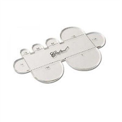 Multi Strap End Template - Craftool Multi Rounded 360402